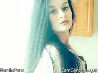 Webcam model KamilaPure from CamContacts