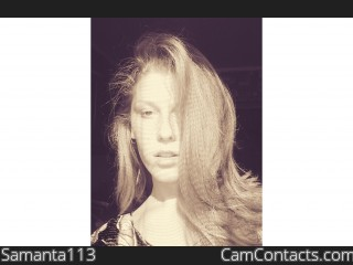 Webcam model Samanta113 from CamContacts