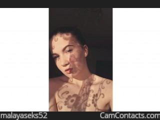 Webcam model malayaseks52 from CamContacts