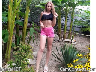 Webcam model JaniceHOT from CamContacts