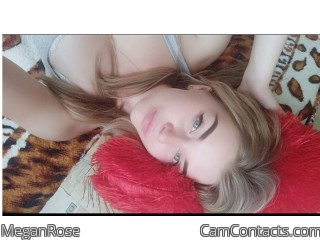 Webcam model MeganRose from CamContacts