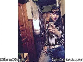 Webcam model MilenaOBright from CamContacts