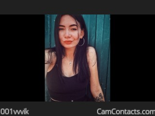 Webcam model 001vvvik from CamContacts