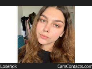 Webcam model Losenok from CamContacts