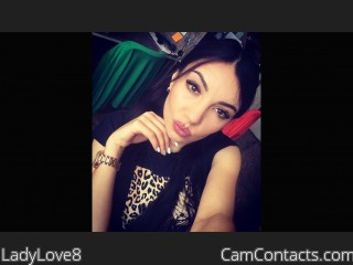 Webcam model LadyLove8 from CamContacts