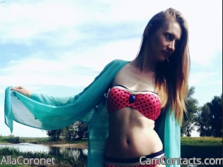 Webcam model AllaCoronet from CamContacts