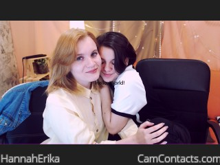 Webcam model HannahErika from CamContacts