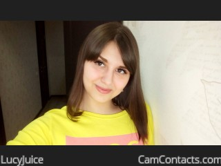 Webcam model LucyJuice from CamContacts