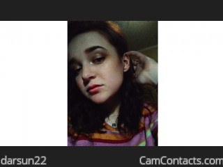 Webcam model darsun22 from CamContacts