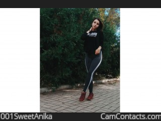 Webcam model 001SweetAnika from CamContacts