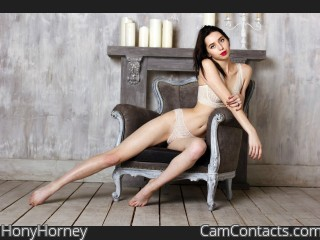Webcam model HonyHorney from CamContacts