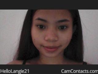 Webcam model HelloLangie21 profile picture