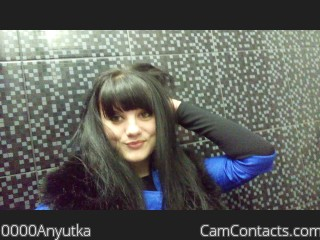 Webcam model 0000Anyutka from CamContacts