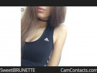 Webcam model SweetiBRUNETTE from CamContacts
