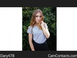 Webcam model Dary478 from CamContacts