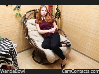 Webcam model WandaBowl from CamContacts