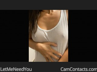 Webcam model LetMeNeedYou from CamContacts