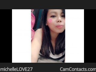 Webcam model michelleLOVE27 from CamContacts