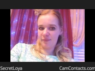 Webcam model SecretLoya from CamContacts