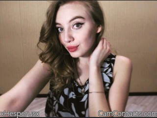 Webcam model xHesperusx from CamContacts
