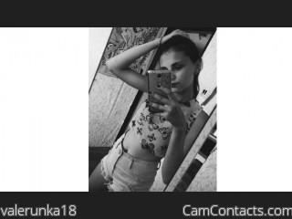 Webcam model valerunka18 from CamContacts