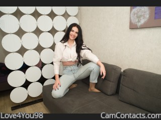 Webcam model Love4You98 from CamContacts