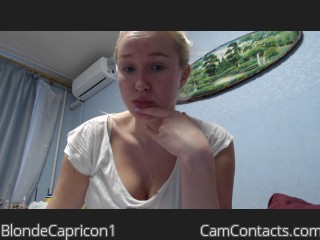 Webcam model BlondeCapricon1 from CamContacts