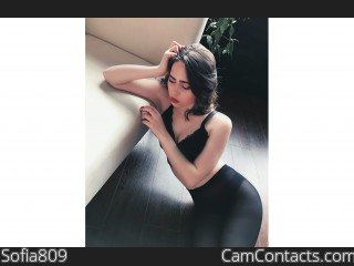 Webcam model Sofia809 from CamContacts