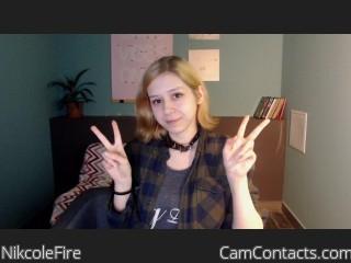 Webcam model NikcoleFire profile picture
