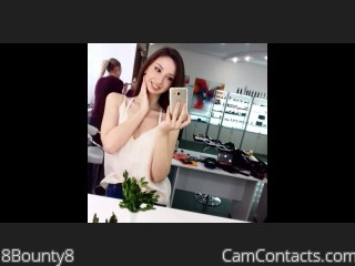 Webcam model 8Bounty8 from CamContacts