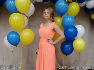 Webcam model CarolFame from CamContacts