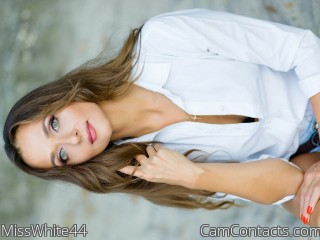 Webcam model MissWhite44 from CamContacts