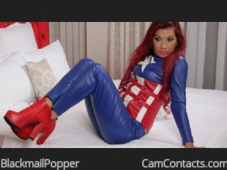Webcam model BlackmailPopper from CamContacts