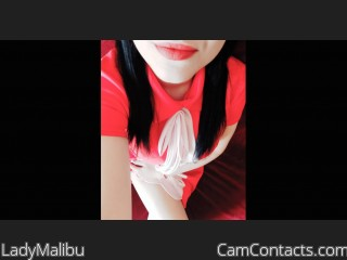 Webcam model LadyMalibu from CamContacts