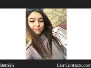 Webcam model Betti36 from CamContacts