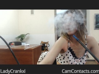 Webcam model LadyCrankxi from CamContacts