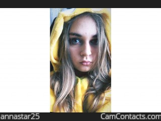 Webcam model annastar25 from CamContacts