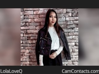 Webcam model LolaLoveQ from CamContacts