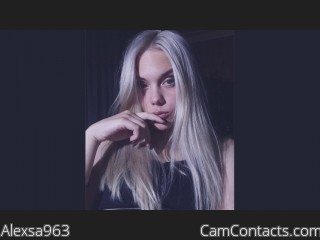 Webcam model Alexsa963 from CamContacts