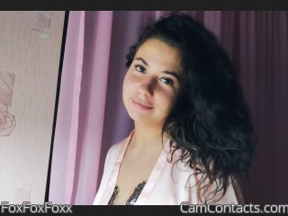 Webcam model FoxFoxFoxx from CamContacts