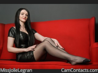 Webcam model MissJolieLegran from CamContacts