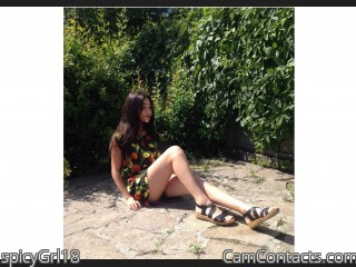 Webcam model spicyGrl18 from CamContacts