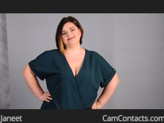 Webcam model Janeet from CamContacts