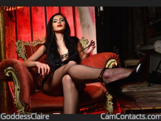 Webcam model GoddessClaire from CamContacts