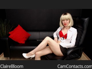 Webcam model ClaireBloom from CamContacts
