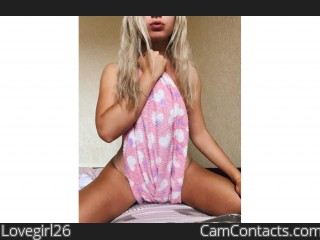 Webcam model Lovegirl26 from CamContacts