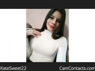 Webcam model KateSweet22 from CamContacts