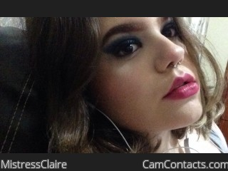 Webcam model MistressClaire from CamContacts
