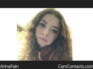 Webcam model ArinaFain from CamContacts
