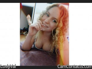 Webcam model LovlyVal from CamContacts